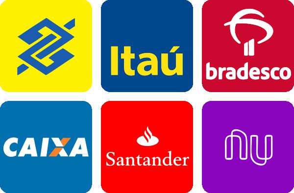 Banco do Brasil, Itaú, Bradesco, Caixa, Santander e Nu Bank